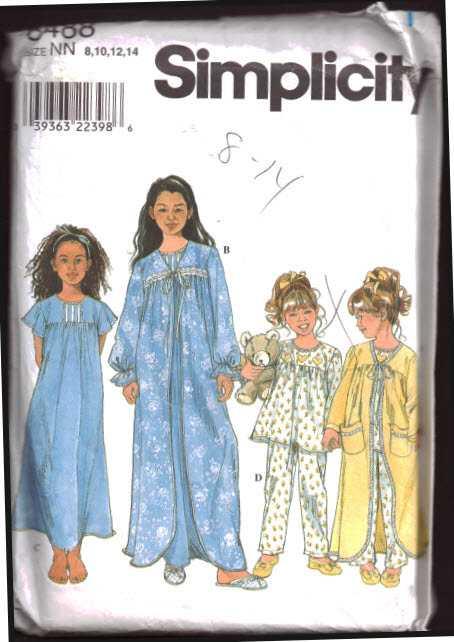 eeb28b9335 Simplicity 40 Girl s Sleepwear Nightgown Pajamas Size NN 4040 Magnificent Simplicity  Pajama Patterns . Simplicity Pattern ...