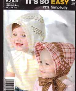 6372faaaec1 Simplicity A2104 Babies   Toddler s Hat Size  XS-L Used Sewing Pattern
