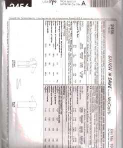 McCalls 2456 Y 1