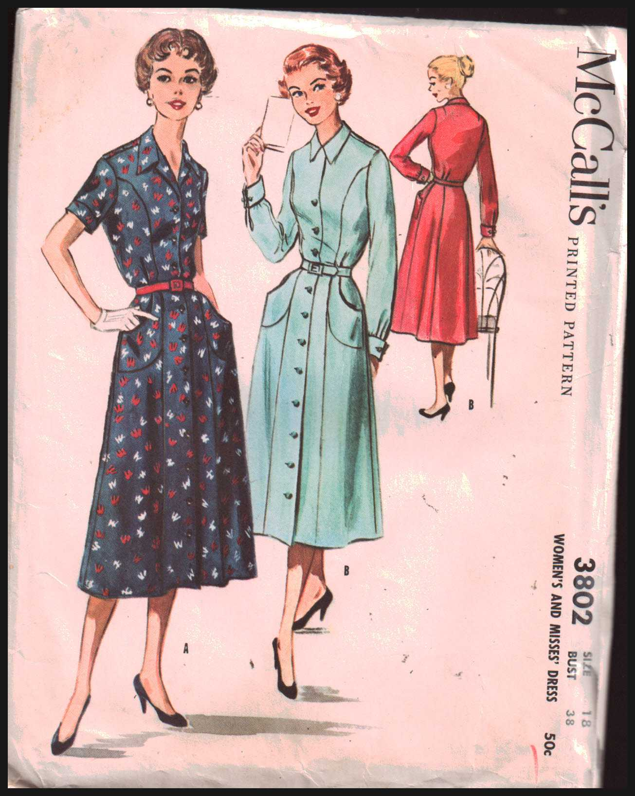 58d63231d4 McCall s 3802 Dress Size  18 Bust 38