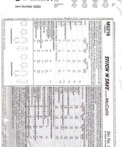 McCalls M5216 M 1
