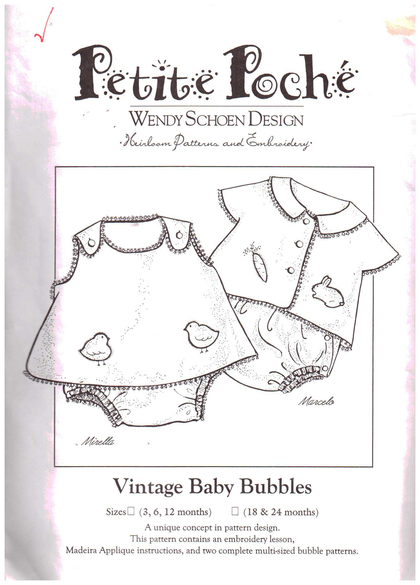 Sewing Patterns - Pattern-Walk Petite Poche sewing patterns