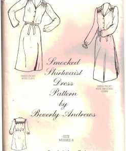 Beverly Andrews Smocked Shirtwaist Dress