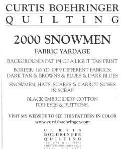 Curtis Boehringer Quilting 2000 1