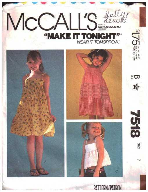 McCalls 7518 J