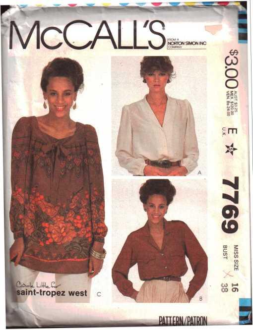 McCalls 7769 J