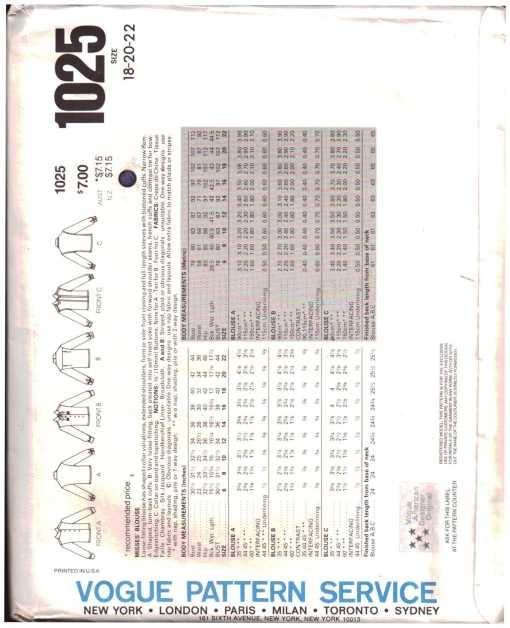 Vogue 1025 J 1
