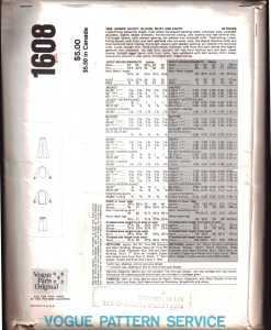 Vogue 1608 J 1
