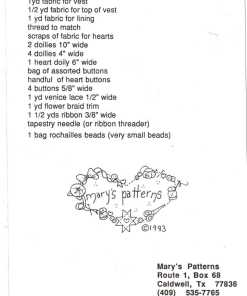 Marys Patterns Heartfelt Wishes Vest 1