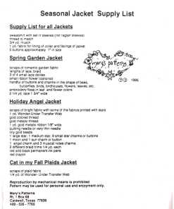 Marys Patterns Seasonal Jacket 1