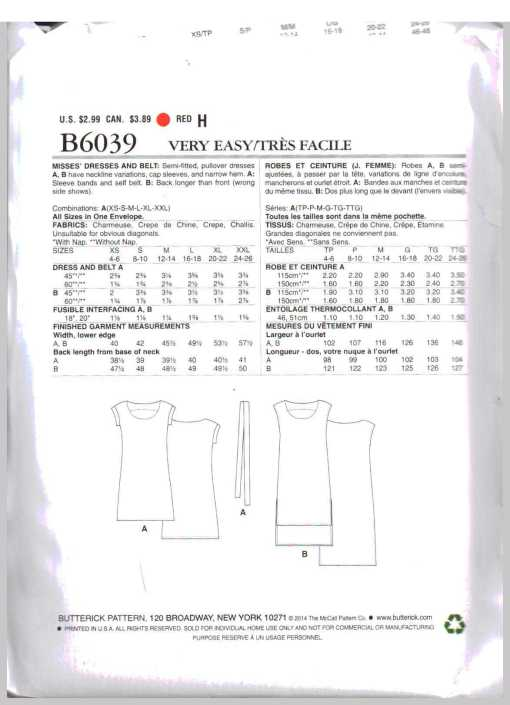 Butterick B6039 O 1