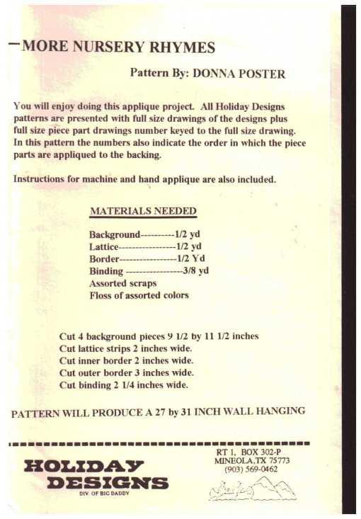 Holiday Designs P 63 N 1