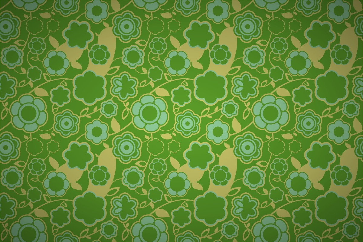 Free Retro Intense Floral Wallpaper Patterns