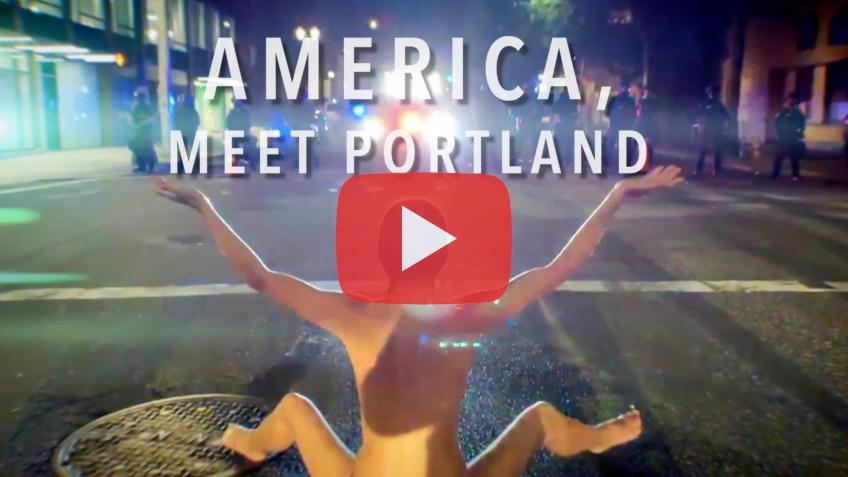 America Meet Portland, Pattern Integrity Films, Sarah Iannarone, Naked Athena, Teargas Ted, Ted Wheeler