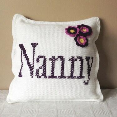 Nanny Square Crochet Cushion
