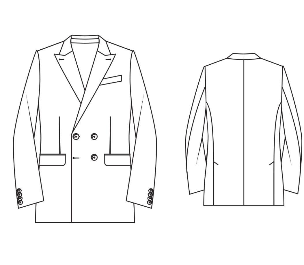 Made To Measure Modern Fit Double Breasted Men S Jacket
