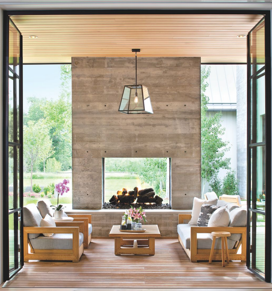 10 Enviable Indoor/Outdoor Living Spaces - patterns & prosecco on Enclosed Outdoor Living Spaces  id=24639