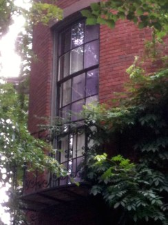 Violet-paned windows