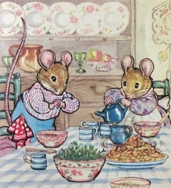 My childhood image of afternoon tea
