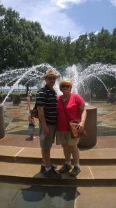 Me and my husband at the Charleston waterfront park.