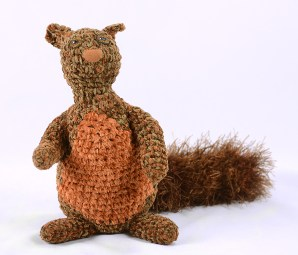 front squirrel brown orange crochet 2