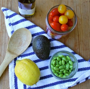 Truffle and edamame salad recipe ingredients