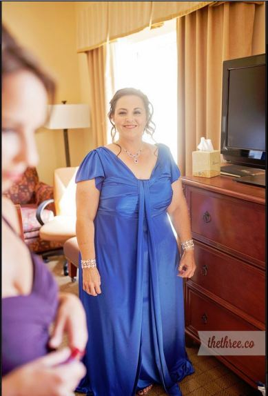 Just finishing hair and makeup for my daughter's wedding, August 2015