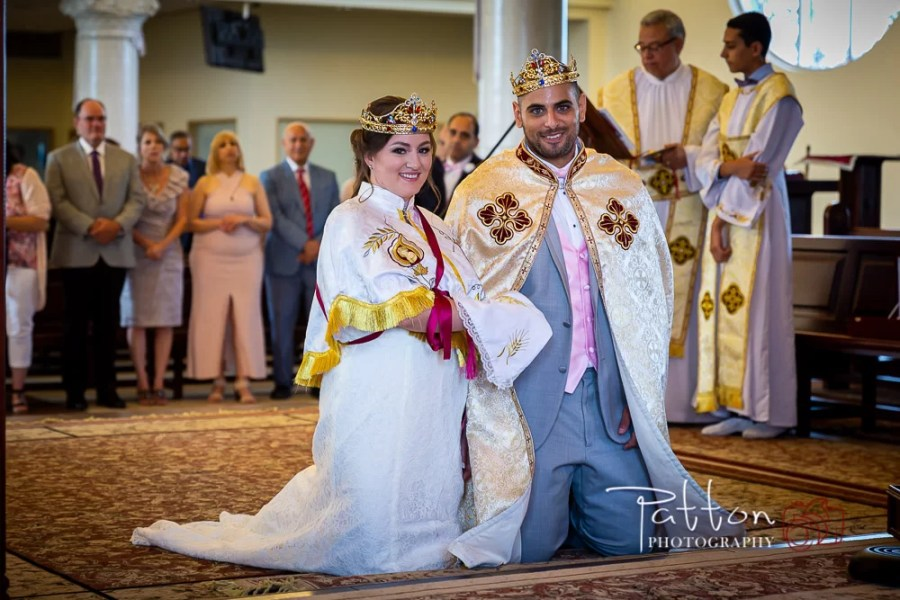 Coptic Orthodox Wedding couple