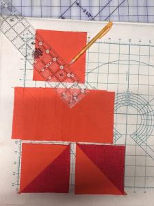 Half Square triangles marked