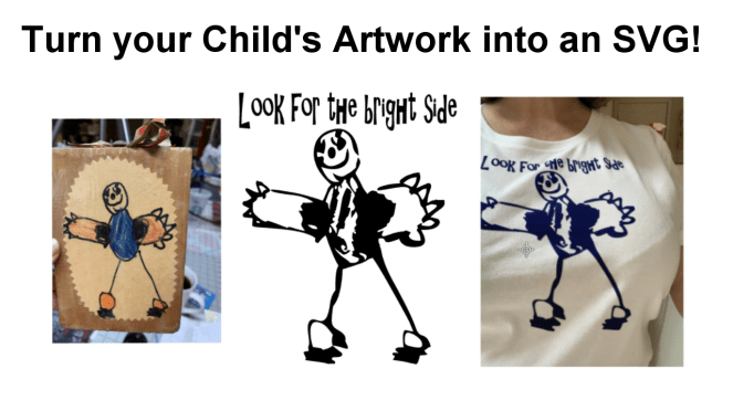Create a T-shirt from your child's art. Cricut, Silhouette