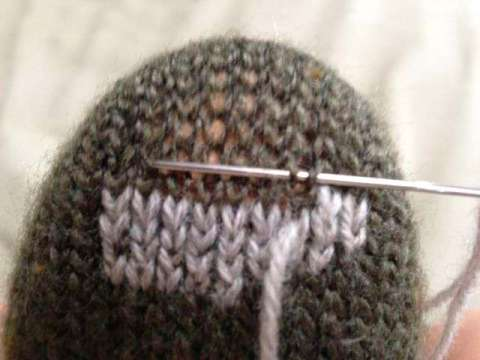 Duplicate Stitch Moving right to left