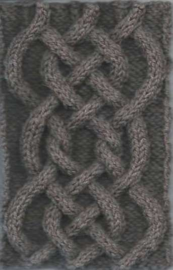 Center Cable swatch