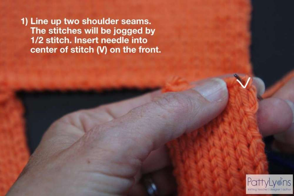 Seaming Shoulder in Knitting