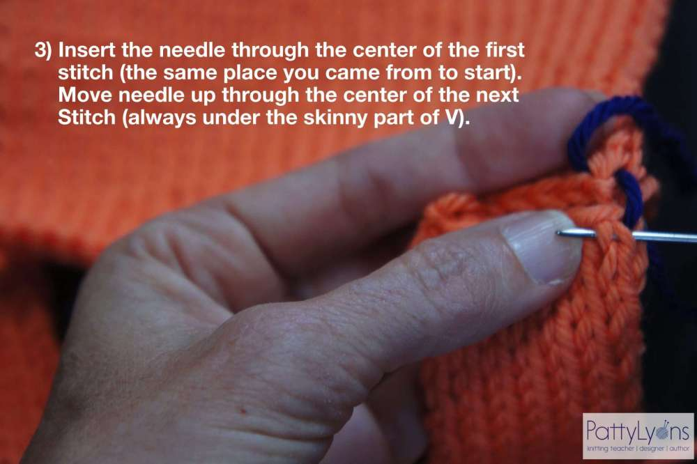 Seaming Shoulder in Knitting
