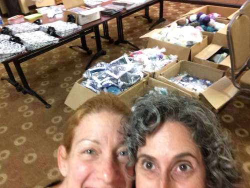 Melissa & I put together 100 goodie bags