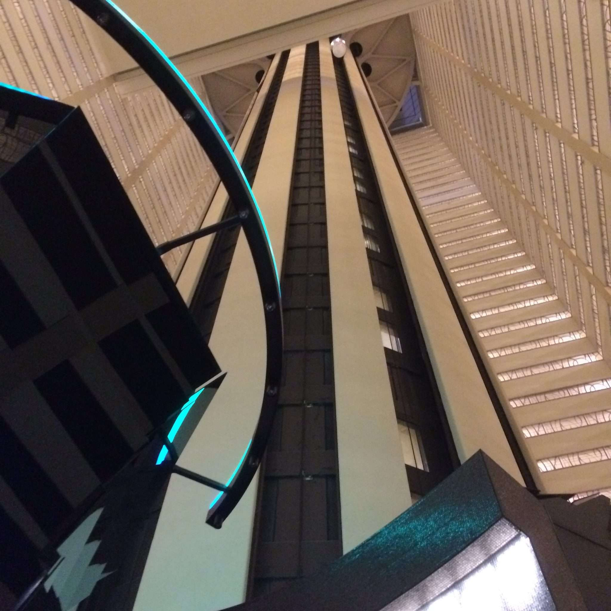 Vogue Knitting Live NYC - The crazy glass elevator