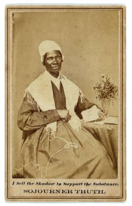 """Carte de visite showing Sojourner Truth (c. 1880)"""