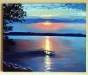 "LAKE MENDOTA             ""22 x ""28 Madison Wisconsin"