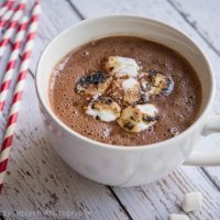 Hot Cocoa with Toasted Marshmallows
