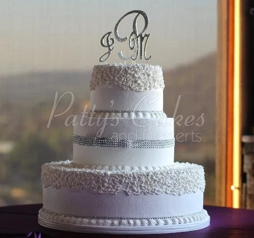 3 Tiered Round Wedding Cakes