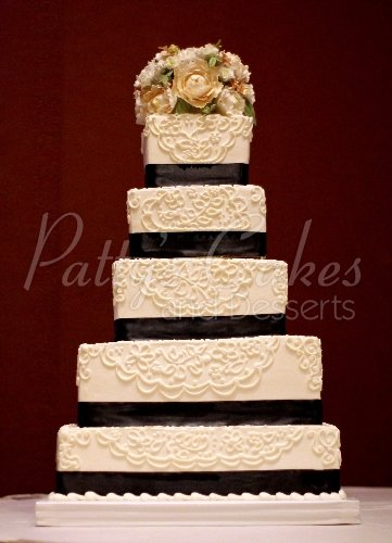 Tall wedding cakes Archives   Patty s Cakes and Desserts 5 tier wedding cake