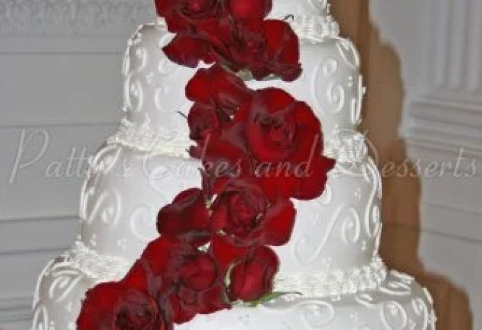 Pink Wedding Cakes Archives Pattys Cakes And Desserts