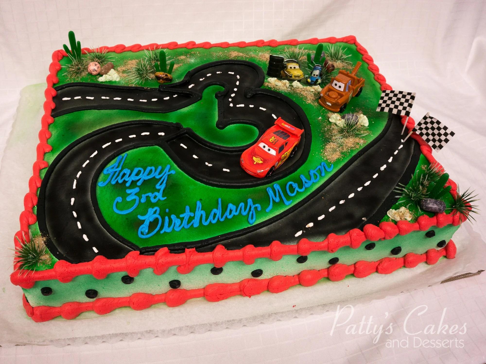 Photo Of A Disney Cars Birthday Cake