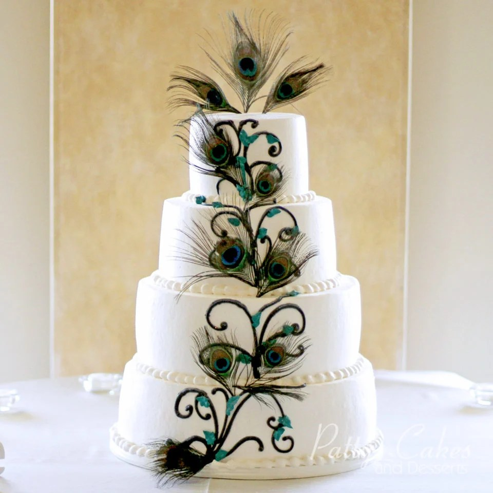 Photo of a peacock wedding cake   Patty s Cakes and Desserts Photo Gallery