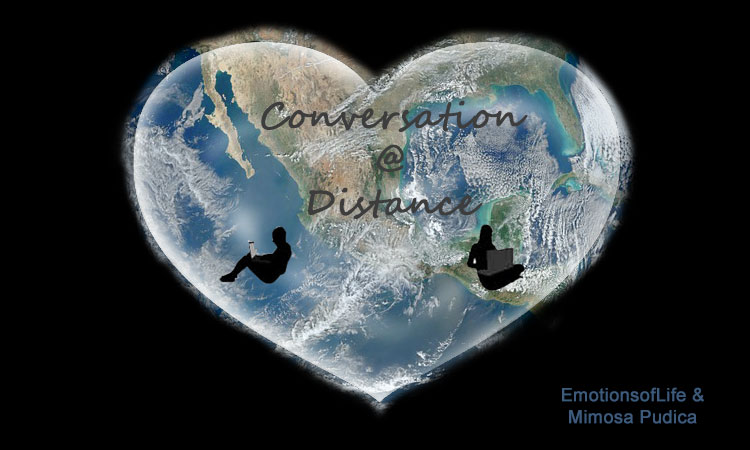 Logo poem conversation at distance