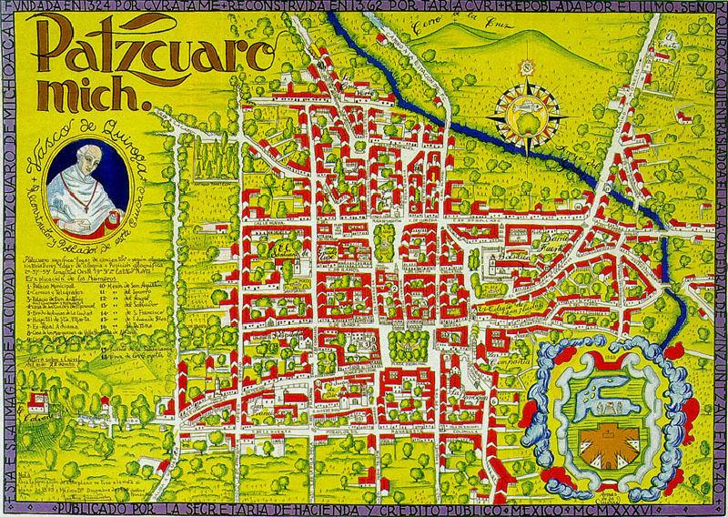 Mapa de Pátzcuaro