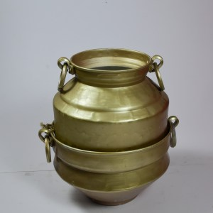 Traditional Copper Coated Indian Planter Set