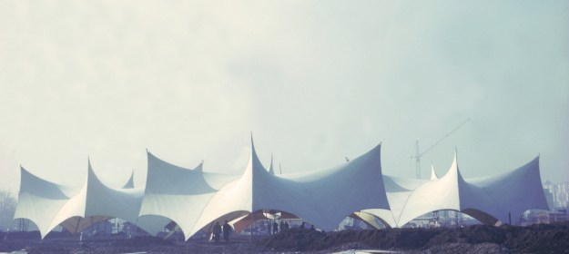 Hall en la Exhibición Internacional de Jardinería, 1963, Hamburgo, Alemania. © Atelier Frei Otto Warmbronn