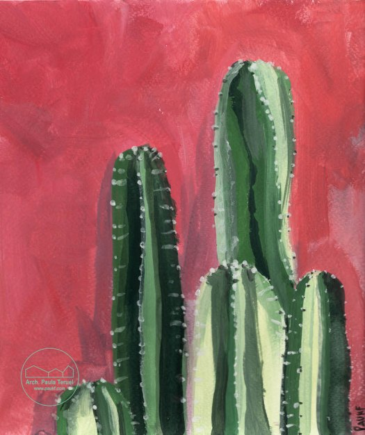 VERDE GREEN PLANTAS PLANTS VEGETATION VEGETACION ILUSTRACION CACTUS ARTWORK BY PAUKF