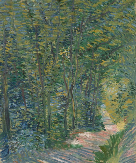 Sendero en los bosques Path in the Woods Paris, May 1887 - July 1887 Vincent van Gogh en paukf